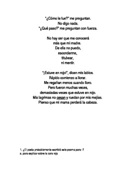 poemas con modismos