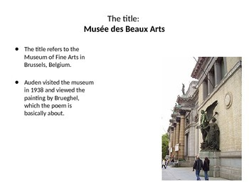 "poetry ""Musée des Beaux Arts""- allusions to Greek mythology"