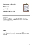 poetry analysis checklist