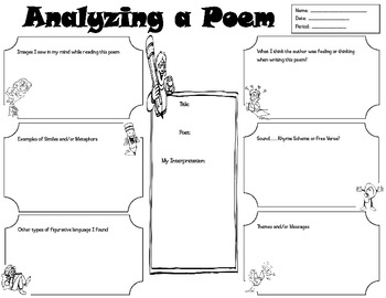 poetry analyzer by teaching with peace teachers pay teachers. Black Bedroom Furniture Sets. Home Design Ideas