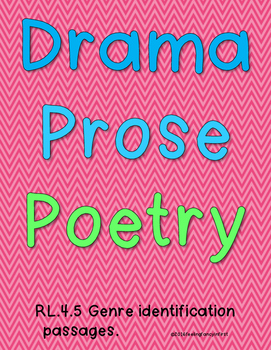 poetry, prose, drama