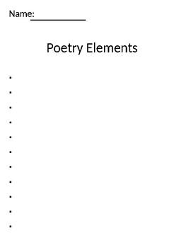 poetry unit lesson 1-3