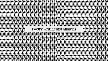 poetry writing and analysis practice