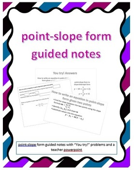 Point-Slope Form Guided Notes