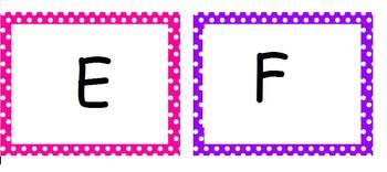 polka dot A-Z labels