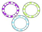 polka dot circle labels