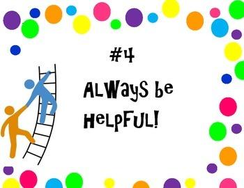 classroom rules, polka dots