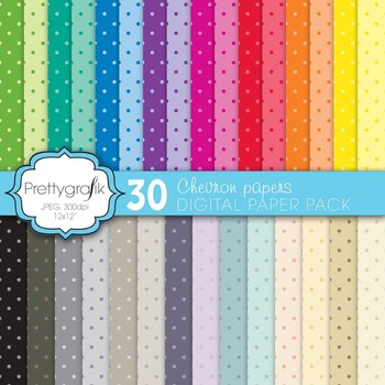 polka dot digital paper, commercial use, scrapbook papers, background - PS581