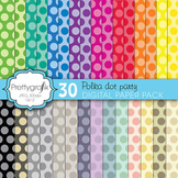 polka dot digital paper, commercial use, scrapbook papers, background - PS607