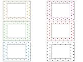 polka dot labels/ task card template