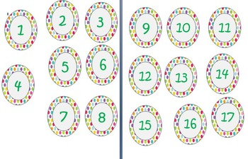 polka dot number tags printable