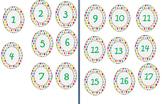 polka dot number tags printable