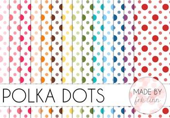 polka dots - digital paper