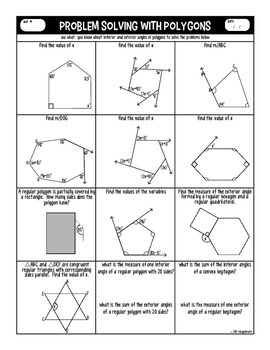 Polygons Graphic Organizer And Practice By Miss Jude Math Tpt