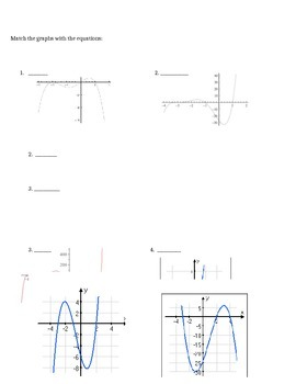 polynomial graph match- precalculus