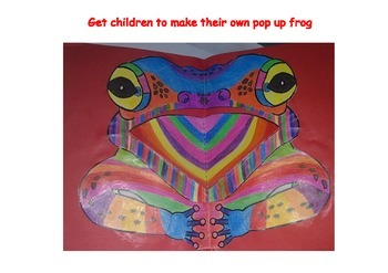pop up animals,elephant,frog,lizard