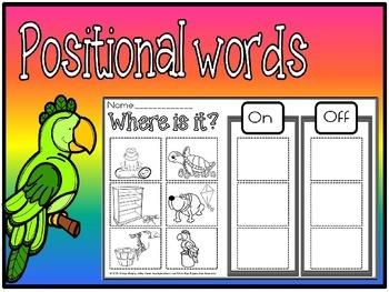 positional words for kindergarten