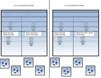 positional words interactive journal