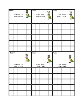 positive behavior management/goal tracking/self monitoring chart