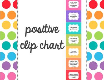 Positive Clip Chart - Rainbow