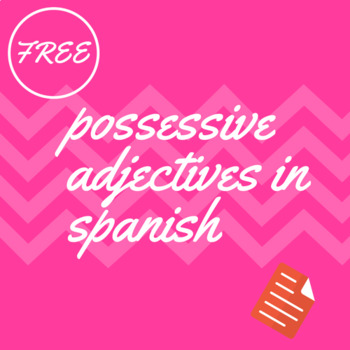 possesive adjectives in spanish worksheet