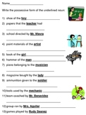 possessive forms of nouns