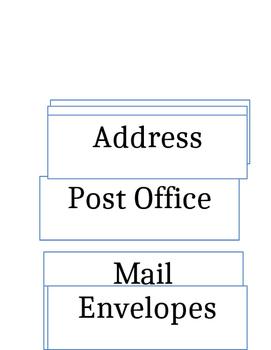 post office Word wall Printable
