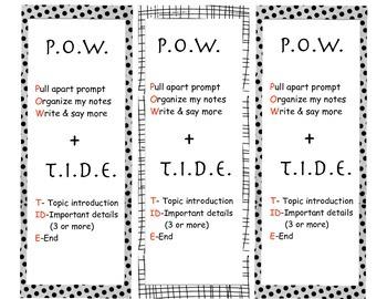 pow + tide bw bookmarks
