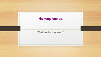 power point presentation about homophones