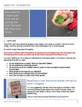 power time planner [bundle] | teachmama.com