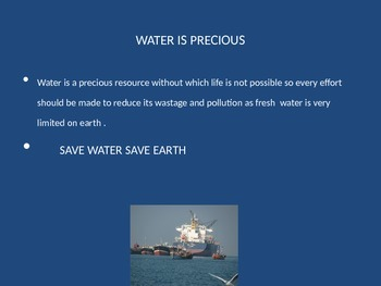 powerpoint presentation on water for small kids