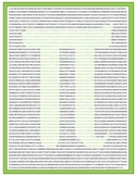 practical PI poster (40,000 digits of pi)