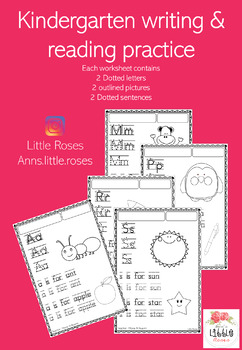 practice reading and writing for kindergarten