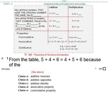 HS [Remedial] Pre-Algebra A Sampler: (textbook-less course)-32 pgs
