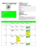 pre k January calendar newsletter