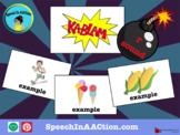 pre-vocalic /r/- Kablam! Speech Sound Series