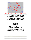 preCalculus or Algebra 2 TBS: TechBook SmartNotes - Entire