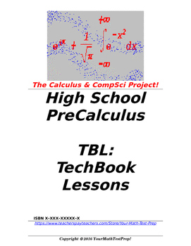 preCalculus or Algebra 2 TBL: TechBook Lessons - Intro Cal