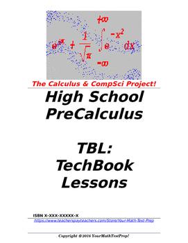 preCalculus or Algebra 2 TBL: TechBook Lessons - Intro Calc Unit05 Screencasts!