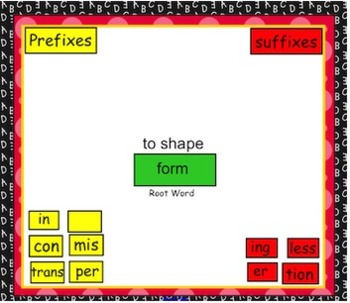 prefix & Suffix Smart Notebook