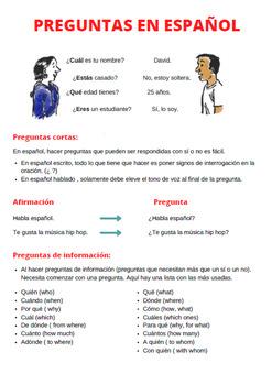 preguntas en español / making questions in spanish