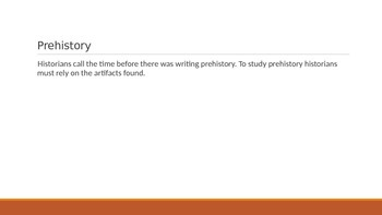 prehistory vocab powerpoint with visuals