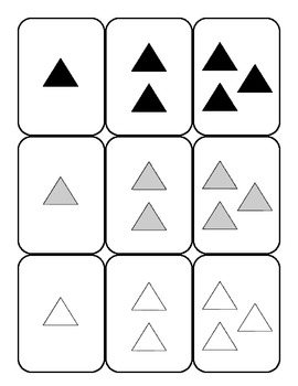 primary pre-k k numbers shapes colors card game SET A - 108 cards