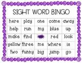 preprimer sight word bingo