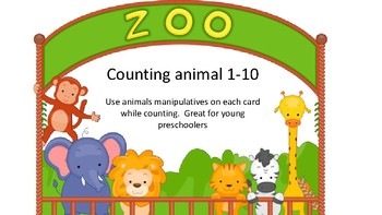 preschool animal counting cards