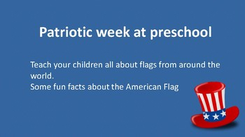 preschoolers learn about united states Flag