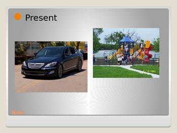 present, past, and future verb tenses: simple and progressive