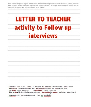 present perfect _ perfecto Notes , Interview & Activities Spanish