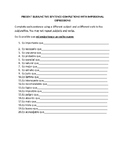 present subjunctive impersonal expressions sentence completions