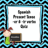 Spanish present tense -er and -ir verbs quiz